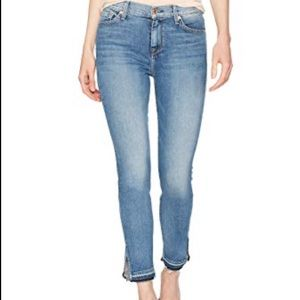 7 For All Mankind The Ankle Skinny Raw Hem Jeans